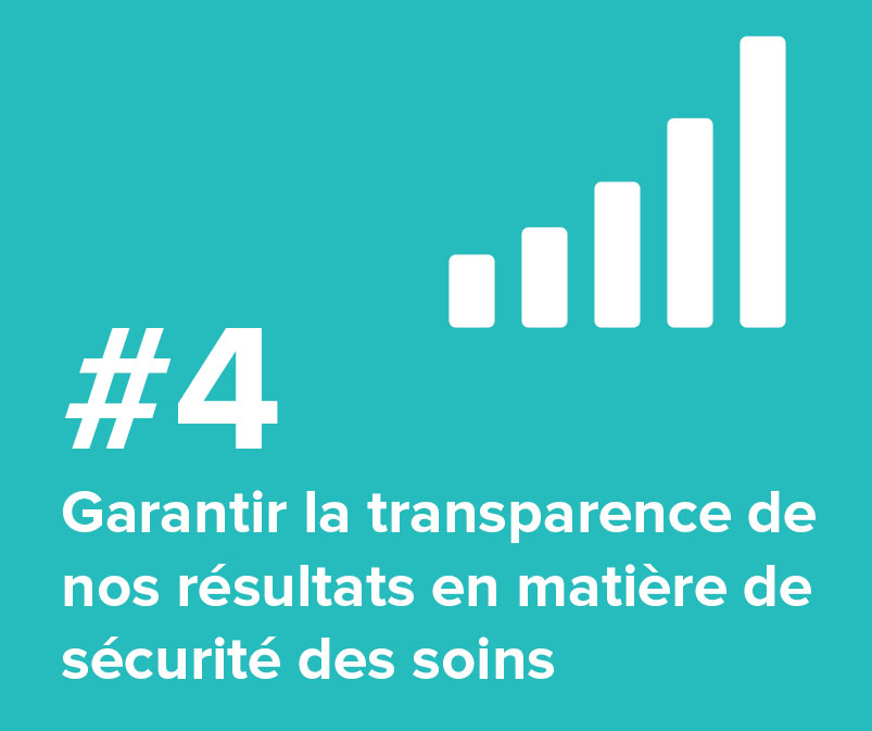 #4 Garantir la transparence de nos résultats en matière de sécurité des soins